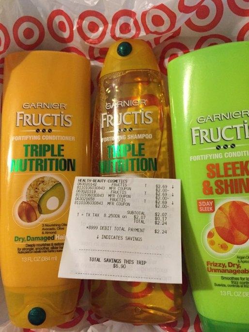Garnier Fructis Haircare Triple Nutrition Extra Nourishing Cream Fortifying Shampoo uploaded by Kathryn B.