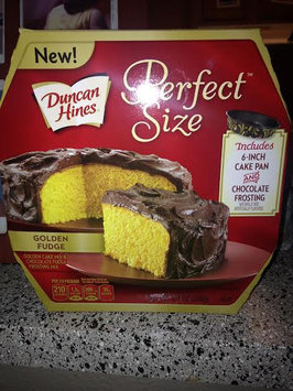 Photo of Duncan Hines® Perfect Size™ Golden Cake Mix & Chocolate Fudge Frosting Mix 9.4 oz. Box uploaded by Casey W.