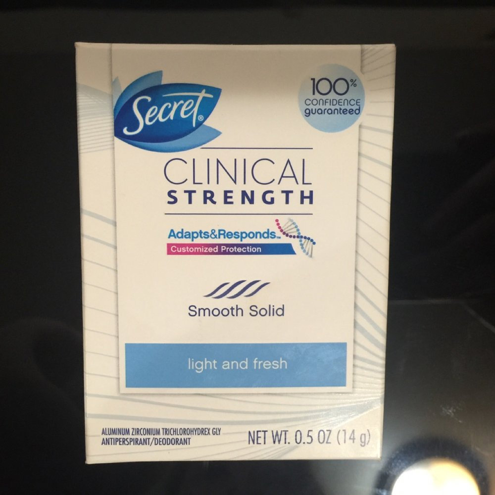 Secret® Clinical Strength Completely Clean Clear Gel Deodorant