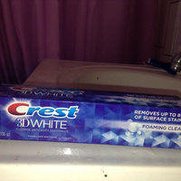 Crest 3D White Foaming Clean Whitening Toothpaste, 4.8 oz uploaded by Jennifer D.