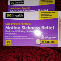 DG Health Less Drowsy Motion Sickness Relief - Tablets, 8 ct uploaded by Holly N.