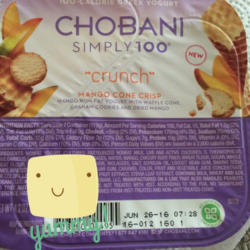 Chobani® Simply 100® Crunch Mango Cone Crisp Mix-Ins Greek Yogurt 4.2 oz. Pack uploaded by Wendy C.
