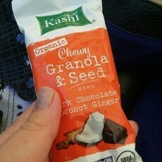 Kashi® Organic Dark Chocolate Coconut Ginger Chewy Granola & Seed Bars 1.2 oz. Wrapper uploaded by Linden L.