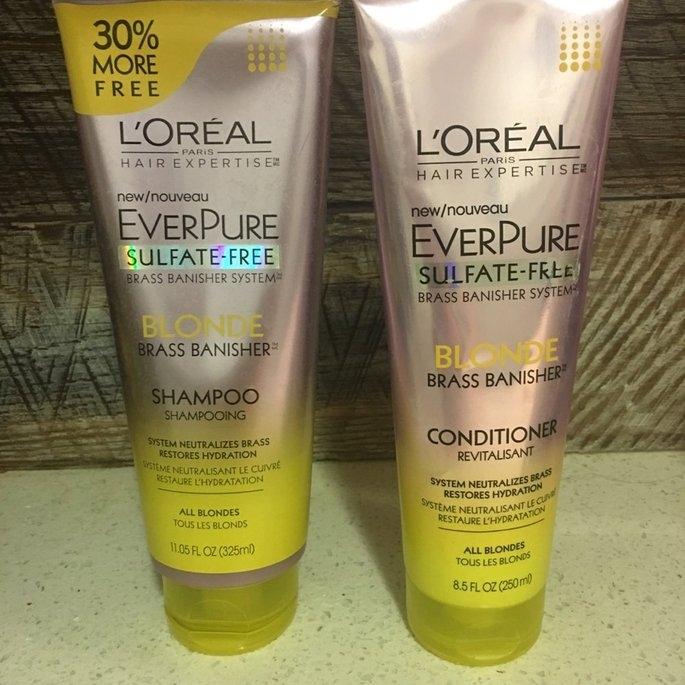 L'Oréal® Paris Hair Expertise™ EverPure Sulfate-Free Blonde Brass Banisher™ Shampoo 11.05 fl. oz. Tube uploaded by Sammy M.