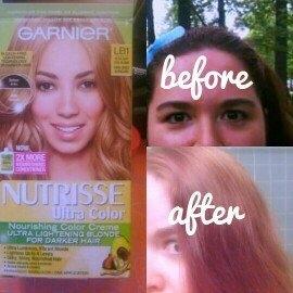 Garnier Nutrisse Ultra Color Ultra Lightening Blondes for Naturally Dark Hair Nourishing Color Cr?me uploaded by Deidre T.