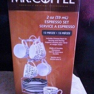 Mr. Coffee Black and White 12-Piece Espresso Set uploaded by ismaray g.