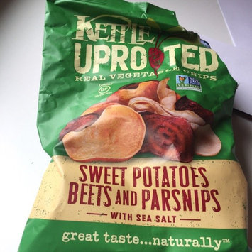 Kettle® Uprooted™ Sweet Potatoes Beets and Parsnips with Sea Salt Vegetable Chips 6 oz. Bag uploaded by Jahara C.