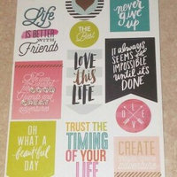 Create 365 Planner Stickers 5 Sheets/Pkg-Life Quotes uploaded by Stephanie L.