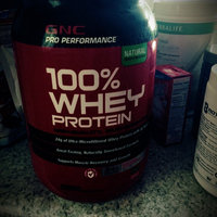 Gnc GNC Pro Performance 100% Whey Protein, Natural Strawberry, 2.27 lb uploaded by Tania F.