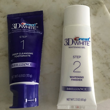 Photo of 3D White Crest 3D White Brilliance Daily Cleansing Toothpaste and Whitening Gel System 1 Tube 85 mL and 1 Tube 63 mL, NPN80049787 uploaded by Nichole H.
