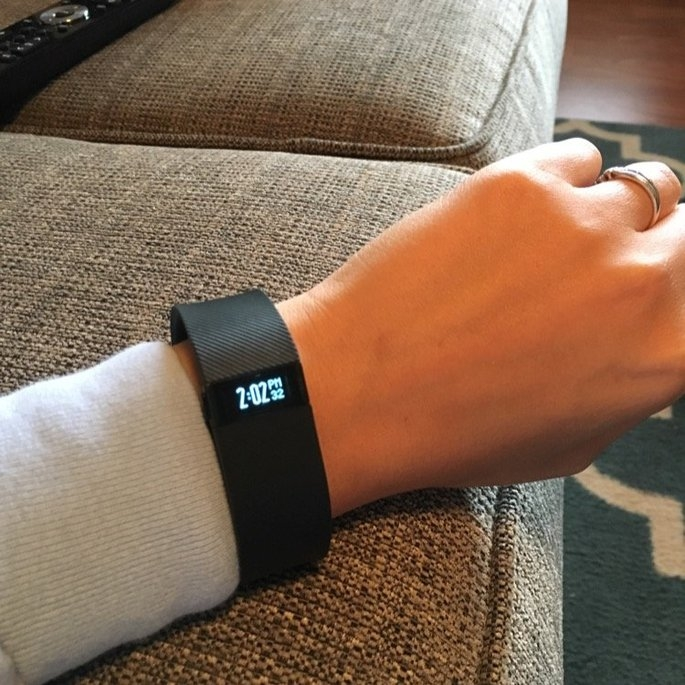 Fitbit - Charge Wireless Activity Tracker + Sleep Wristband (small) - Black uploaded by Katie C.