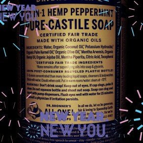 Dr. Bronner's 18-in-1 Hemp Peppermint Pure - Castile Soap