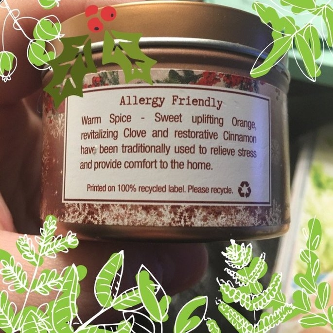 Aroma Naturals - Peace Ruby Holiday Soy VegePure Small Travel Tin Eco-Candle Orange, Clove and Cinnamon uploaded by Anngele V.