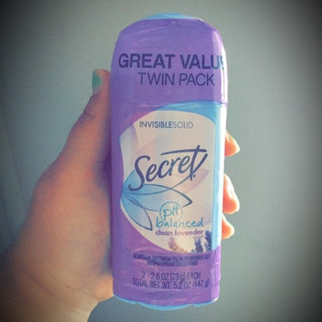 Photo of Secret® Clean Lavender Invisible Solid Antiperspirant & Deodorant 2-2.7 oz. Pack uploaded by Jessica O.