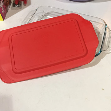 World Kitchen, Inc. Pyrex 3 qt Oblong with Blue Plastic Cover - WORLD KITCHEN, INC. uploaded by Niveen J.