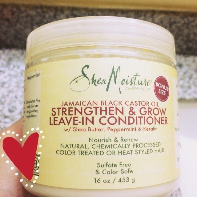 SheaMoisture Strengthen, Grow & Restore Leave-In Conditioner, Jamaican Black Castor Oil, 16 oz uploaded by Damaris T.