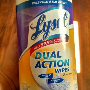 Lysol Dual Action Disinfecting Wipes uploaded by Emily S.