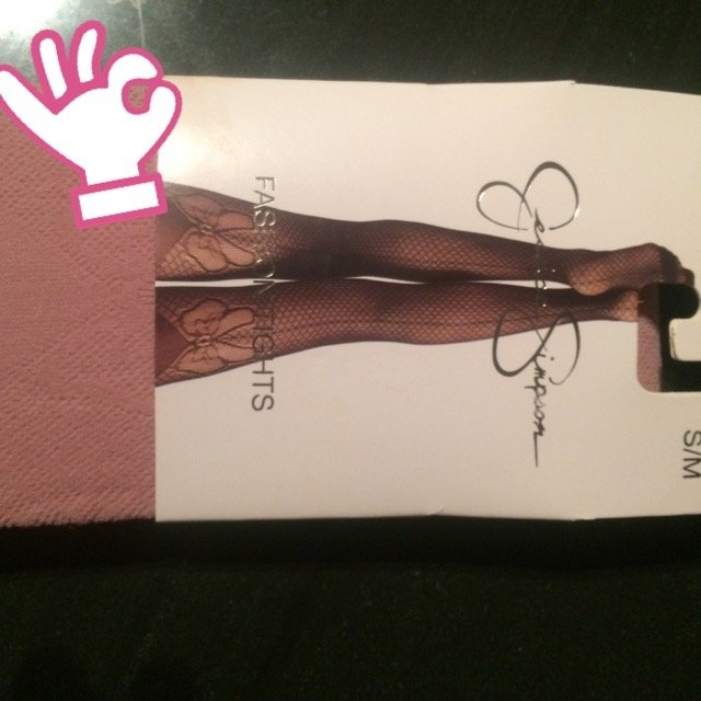 Jessica Simpson Women's Backseam Bow Mesh Sheer Tight, Mauve, Small/Medium uploaded by Sophia A.