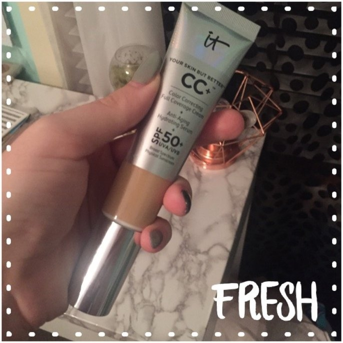 It Cosmetics CC+ Eye Color Correcting Full Coverage Cream Concealer SPF 50+ uploaded by Kaitlyn I.