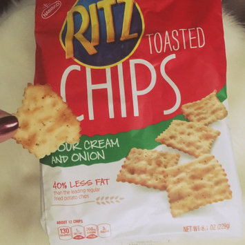 Nabisco Ritz Sour Cream & Onion Toasted Chips 23 oz. Bag uploaded by Landa H.