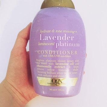 OGX Lavender Luminescent Platinum Conditioner uploaded by Katherine S.