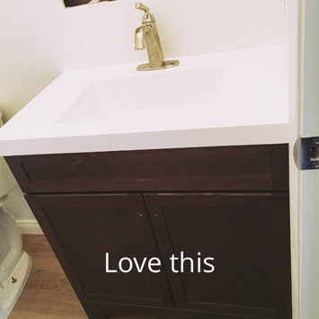 Photo of Style Selections Drayden Grey Integral Single Sink Bathroom Vanity with Cultured Marble Top (Common: 31-in x 19-in; Actual: 30.5-in x 18.75-in) CM18F30-SS uploaded by Cristina P.