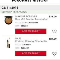 MAKE UP FOR EVER Duo Mat Powder Foundation 199 - Beige Rose 0.35 oz uploaded by Queen Esther S.