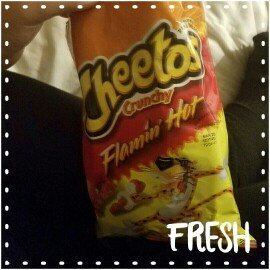 Cheetos Flamin' Hot Crunchy Cheese Flavored Snacks uploaded by Avori S.