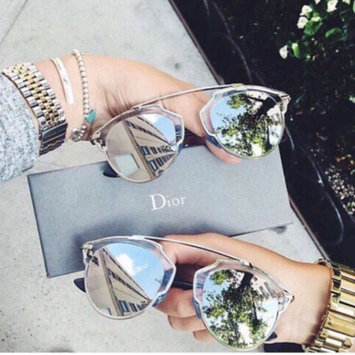 Photo of Starlight Gold Aviator Sunglasses with Pink Mirror Lens uploaded by Karina F.