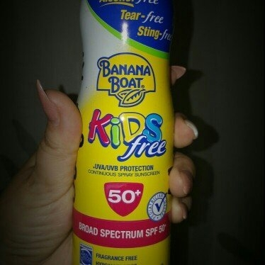 Banana Boat® Clear UltraMist® Kids Free Broad Spectrum SPF 50+ Continuous Spray Sunscreen 6 oz. Aerosol Can uploaded by Victoria M.
