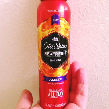 Photo of Old Spice Fresher Collection Amber Scent Body Spray, 3.75 oz uploaded by Racheal S.