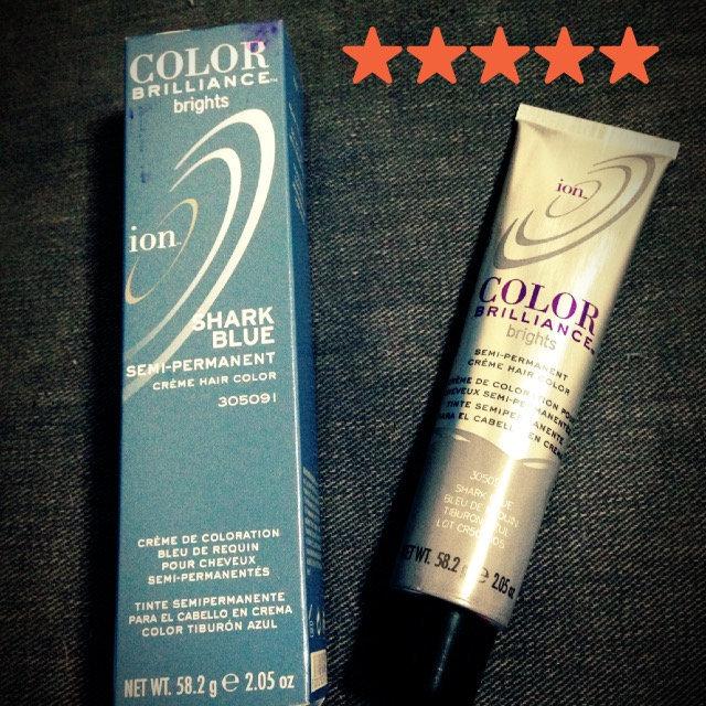 Ion Color Brilliance Brights Semi-Permanent Hair Color Shark Blue