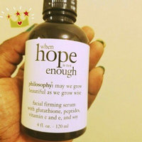 philosophy when hope is not enough facial firming serum uploaded by Marissa C.