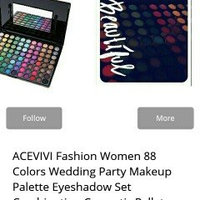 ACEVIVI Fashion Women 88 Colors Wedding Party Makeup Palette Eyeshadow Set Combination Cosmetic Pallet Matte Shimmer (FBA) uploaded by Michelle M.