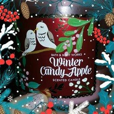 Photo of Bath & Body Works 1 X Bath and Body Works Winter Candy Apple 3 Wick Scented Candle 14.5 Oz. 2014 Edition uploaded by chastity p.
