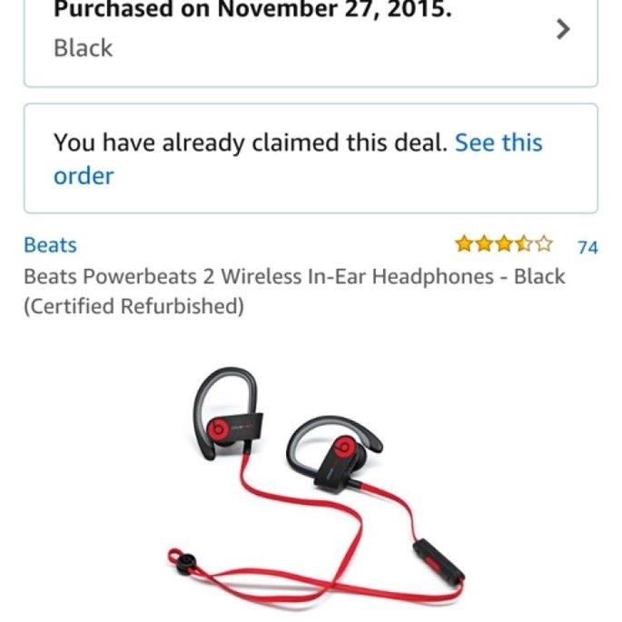 BEATS by Dr. Dre Powerbeats 2 Wireless Headphones uploaded by Alexandra B.