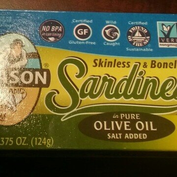 Season Imported Sardines in Pure Olive Oil Skinless & Boneless Salt Added uploaded by Kristina R.