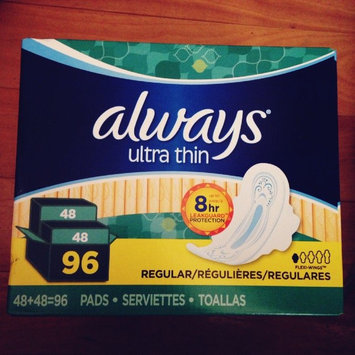 Photo of Always Ultra Thin Size 1 Regular Pads With Wings Unscented uploaded by becky l.