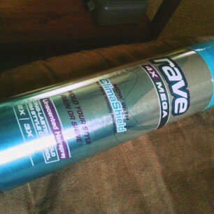 Photo of Rave 4X Mega Unscented Hairspray With ClimaShield uploaded by Destani S.