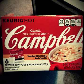 Photo of Campbell's® Fresh-Brewed Soup Homestyle Chicken Broth & Noodle Soup Mix Coffee Podss uploaded by Rashika J.