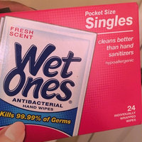 Wet Ones Fresh Scent Antibacterial Hand Wipes Pocket Size Singles, 24 count uploaded by Brianna S.