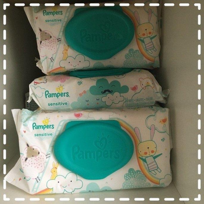 Pampers Sensitive Wipes Travel Pack, 56 ea uploaded by Lauren H.