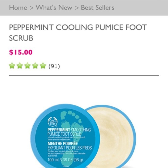 The Body Shop Peppermint Cooling Pumice Foot Scrub uploaded by Christine W.