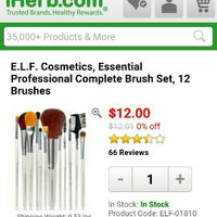 e.l.f. Cosmetics Brush Set (12 Piece) uploaded by Shania M.