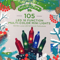 Holiday Time LED 16 Function with Memory Christmas Lights Multi, 105 Count uploaded by Sonia B.