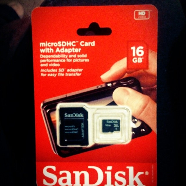 SanDisk 16GB Class 4 SDHC Memory Card uploaded by Connie E.