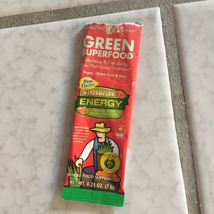 Amazing Grass - Green SuperFood Energy Drink Powder Lemon Lime - 15 Packets uploaded by Leah P.