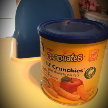 Gerber Graduates Lil' Crunchies Baked Whole Grain Corn Snack Apple & Sweet Potato uploaded by April B.