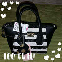 Luv Betsey Pom'n Around Mini Satchel-Black/Silver, Black/Silver uploaded by Melissa Z.