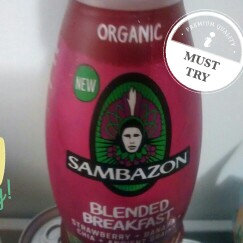 Photo of Sambazon Blended Breakfast Strawberry+Banana+Chia+Ancient Grains Superfood Smoothie uploaded by Adeline P.